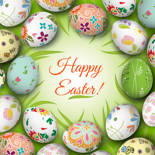 Floral-easter-egg-background